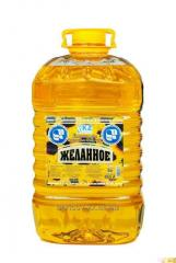 Sunflower oil of a cold extraction of a