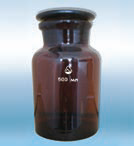 Bottles for reactants with ground stopper and wide