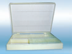 Boxes plastic for microscope slides