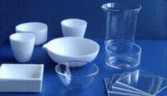 Crucibles are quartz low, 50 ml