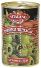 Olives green without stone, 314. Vitaland