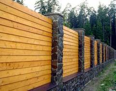 Забор деревянный от производителя Астана