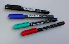 Marker permanent (steklograf), black, 1 piece.