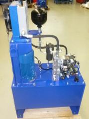 Hydraulic stations (units, hydraulic actuators,