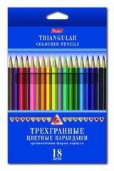 Pencils TREKHGRANNYE color Hatber of 18 flowers