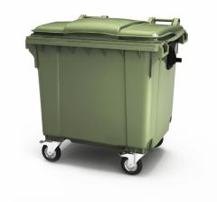Garbage container of plastic 1100 liters