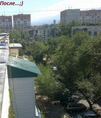 Козырьки над балконами и входными группами, в