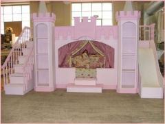 Кровать - замок кровать деревянная, игровая