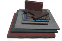 The stone blocks rubber thickness is 40 mm. Four