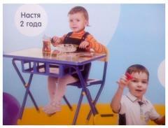 Детские парты от 1,5 до7лет.