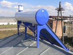 Солнечный нагреватель воды  200 литров