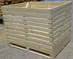 The wooden container for vegetable storehouses,