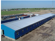 Buildings are mobile, Mobile buildings for field camps, Mobile buildings for construction towns.