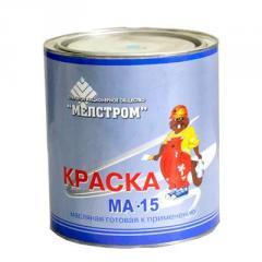 Краска МА-15 масляная ГОСТ 10503-71 Цвета в ассортименте мет.бан.(3 кг)