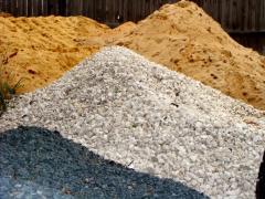 Щебень и песок из пористых горных пород