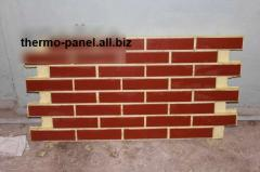 Front thermopanels with a brick tile