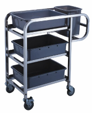 The cart for dirty ware and devices