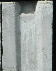 Base blocks, material M-250-300 concrete.