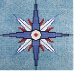 Стекляная мозаика EZARRI Панно D-6, размер 2,13 x