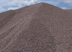 Sand for construction works from crushing