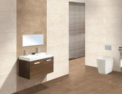 Ceramic glazed wall tile with the digital press