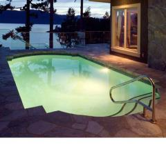 The pool from moisture resistant polymer
