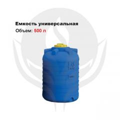 Capacity of cylindrical vertical 500 l
