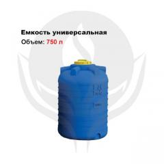 Capacity of cylindrical vertical 750 l