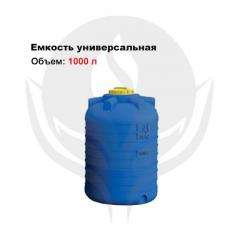 Capacity of cylindrical vertical 1 000 l