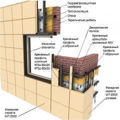 Кассеты, панели, сэндвич-панели фасадные, Фасадные