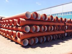 CORRUGATED PIPES WITH THE BELL