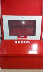 Стенд пожарный закрытого типа со встроенным ящиком