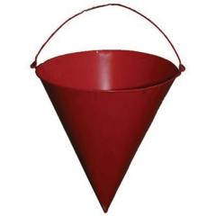 The bucket is conical