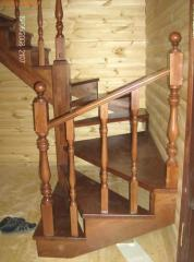 Ladders wooden, wooden spiral staircases