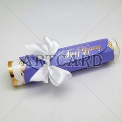 Invitation in the form of a roll