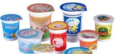 Glasses dairy products (Karaganda), Kazakhstan