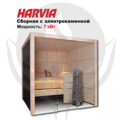 Combined sauna with Claro S2116LS elektrokamenka