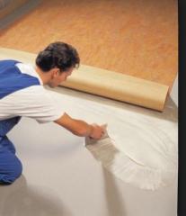 Glue for linoleum and a kovrolan a carpe