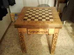 Chessboard for the street in Kazakhstan