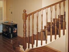 Handrail wooden in Kazakhstan