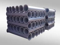 Self-flowing pipes (220, 300, 380 - section of 2,0