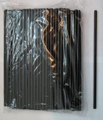Трубочки черные для коктейля, арт. Ртч200