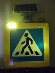 Active road signs light-emitting diode