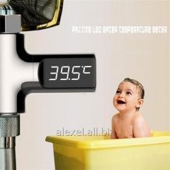 The LED thermometer for a shower