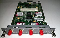 The OpenVox VS-GWM400G GSM module on 4 channels