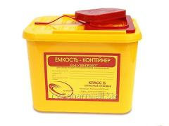 Capacity container for collecting organic waste of