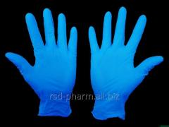 Gloves are sterile, viewing, nitrile (without