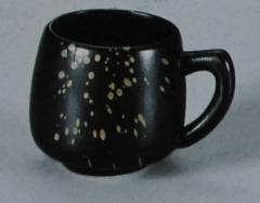 Cup for tea (From a series Black ceramics with