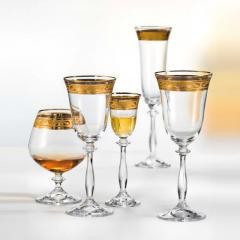 Богемское стекло. Фужеры, бокалы, стаканы.