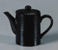 Чайник (Серия чёрная керамика с красным...